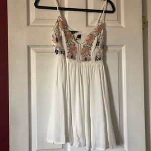 Lulus White embroidered dress